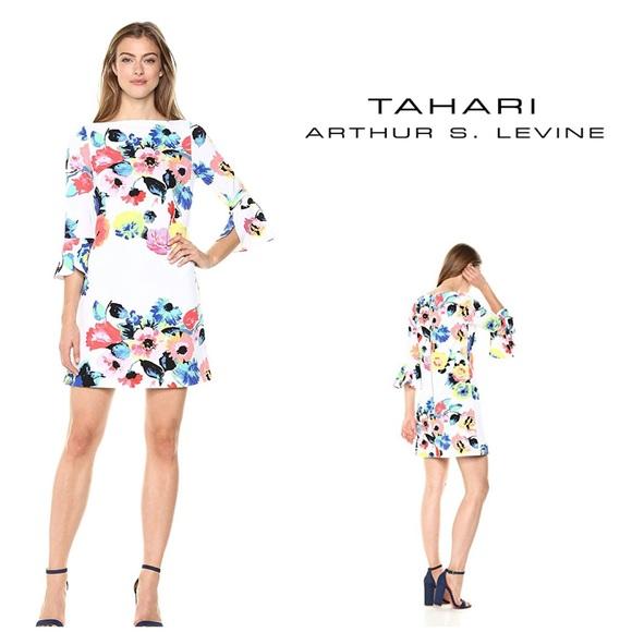 0c9598001208 Tahari Dresses | New Floral Bell Sleeve Shift Dress | Poshmark
